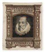 Miguel De Cervantes Fleece Blanket