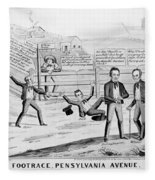 Presidential Campaign, 1844 Fleece Blanket