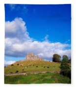 Rock Of Cashel, Co Tipperary, Ireland Fleece Blanket