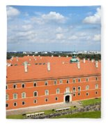 Royal Castle In Warsaw Fleece Blanket