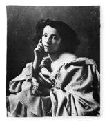 Sarah Bernhardt Fleece Blanket