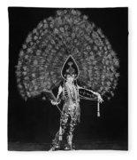 Silent Film Still: Costume Fleece Blanket