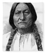 Sitting Bull (1834-1890) Fleece Blanket