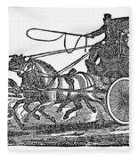 Stagecoach, 19th Century Fleece Blanket