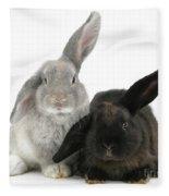 Two Rabbits Fleece Blanket