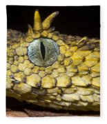 Usambara Eyelash Bush Viper Fleece Blanket