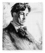 William Butler Yeats Fleece Blanket