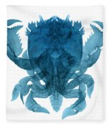 X-ray Of Deep Water Crab Fleece Blanket