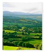 50 Shades Of Green Fleece Blanket
