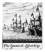 Spanish Armada, 1588 Fleece Blanket