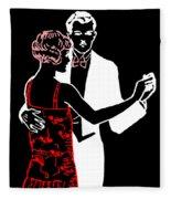 Art Deco Image Fleece Blanket