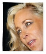 Blond Woman Fleece Blanket
