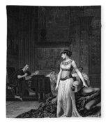 Cleopatra Vii (69-30 B.c.) Fleece Blanket