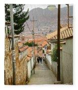 Cusco Peru Street Scenes Fleece Blanket