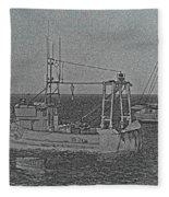 Fishing Boats Art Fleece Blanket