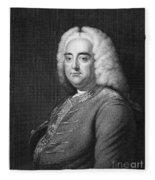 George Frederick Handel Fleece Blanket