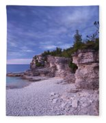 Georgian Bay Cliffs At Sunset Fleece Blanket