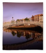 Hapenny Bridge, River Liffey, Dublin Fleece Blanket
