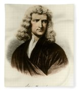 Isaac Newton, English Polymath Fleece Blanket