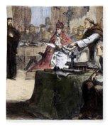 John Wycliffe (1320?-1384) Fleece Blanket
