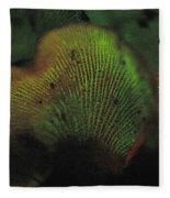 Luminescent Mushroom Panellus Stipticus Fleece Blanket