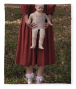 Old Doll Fleece Blanket