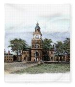 Philadelphia State House Fleece Blanket