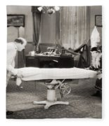 Silent Film Still: Doctor Fleece Blanket