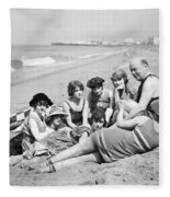 Silent Still: Bathers Fleece Blanket