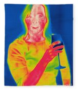 Thermogram Of A Woman Fleece Blanket