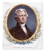 Thomas Jefferson (1743-1826): Fleece Blanket
