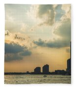 View From Battery Park City Fleece Blanket