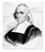 William Harvey, English Physician Fleece Blanket