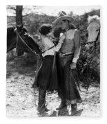 Silent Film Still: Couples Fleece Blanket