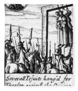 Spanish Armada, 1588 Fleece Blanket