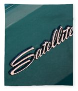 65 Plymouth Satellite Logo-8502 Fleece Blanket