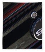 67 Black Camaro Ss Gas Tank-8019 Fleece Blanket
