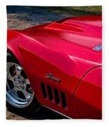 69 Red Detail Fleece Blanket