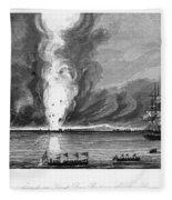 First Opium War, 1841 Fleece Blanket