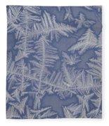 Frost On A Window Fleece Blanket