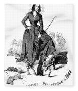 George Sand (1804-1876) Fleece Blanket
