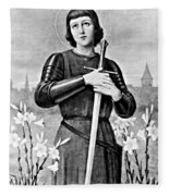 Joan Of Arc, French National Heroine Fleece Blanket