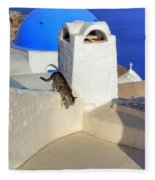 Oia - Santorini Fleece Blanket