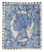old Australian postage stamp Fleece Blanket