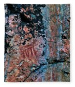 Painted Rocks At Hossa With Stone Age Paintings Fleece Blanket