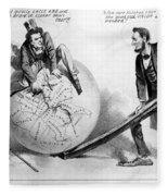 Presidential Campaign: 1864 Fleece Blanket