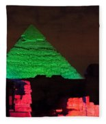 Pyramids Of Giza Fleece Blanket