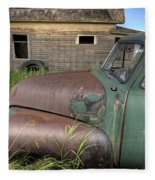Vintage Farm Trucks Fleece Blanket