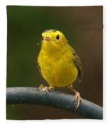 Wilson's Warbler Fleece Blanket