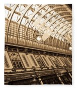 Leadenhall Market London Fleece Blanket
